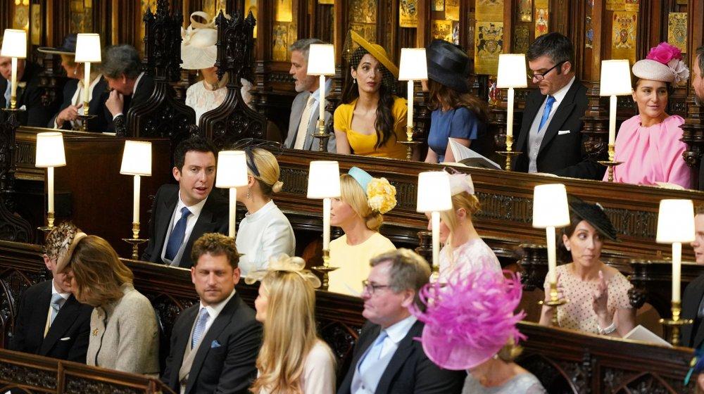 ハリー王子とメーガン・マークルの結婚式でのジョージとアマル・クルーニー