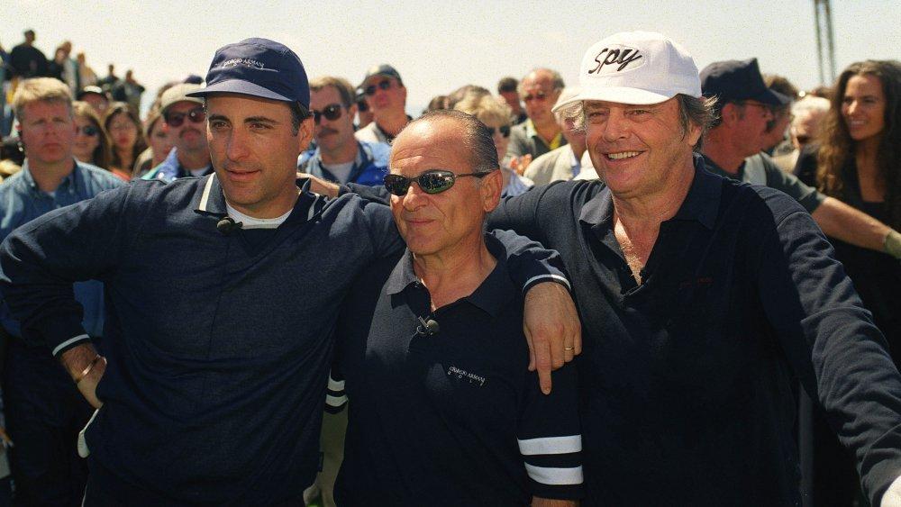 ゴルフトーナメントでのアンディガルシア、ジョーペシ、ジャックニコルソン