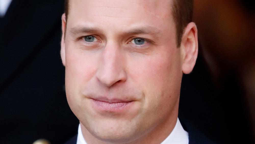 真面目な表情で見つめるウィリアム王子