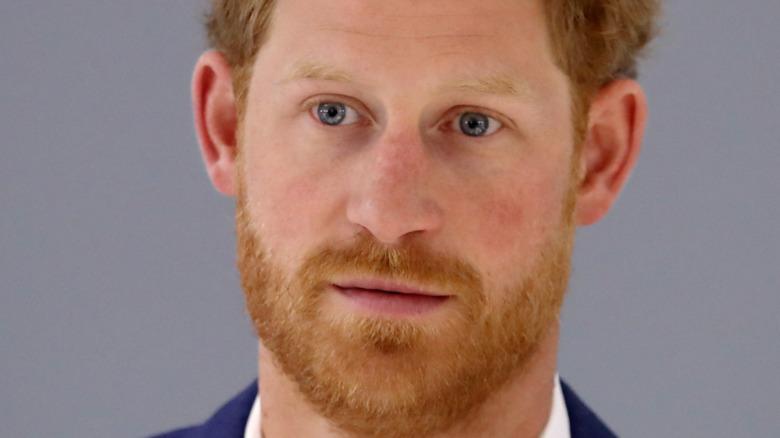 ハリー王子の青い目