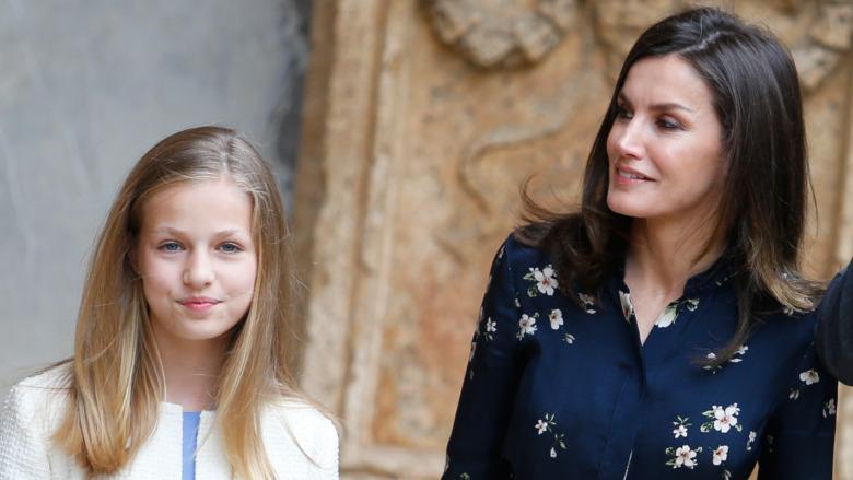 2019年のイベントに参加するレオノール王女とレティシア女王