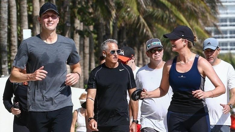 ジャレッド・クシュナーとイヴァンカ・トランプのジョギング