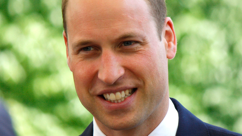 外に出たウィリアム王子