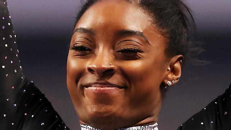 2021年米国体操選手権でのシモーネ・バイルズ
