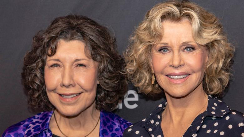 リリー・トムリンとジェーン・フォンダの笑顔