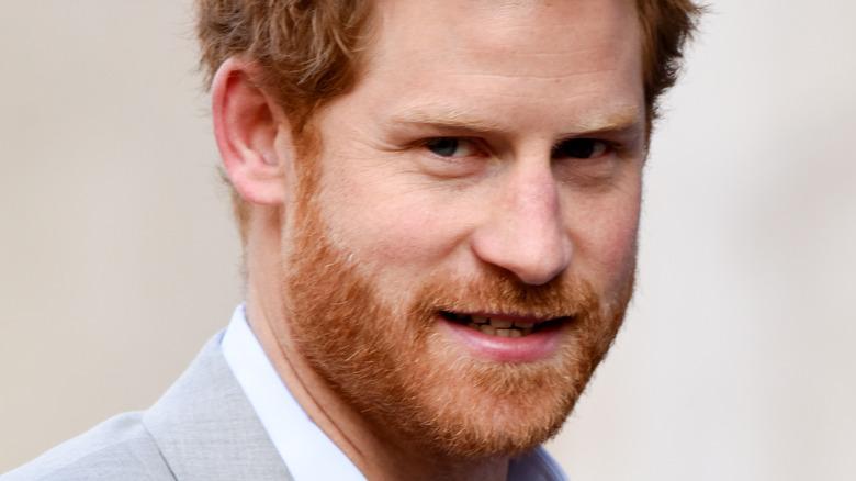 ハリー王子の笑顔