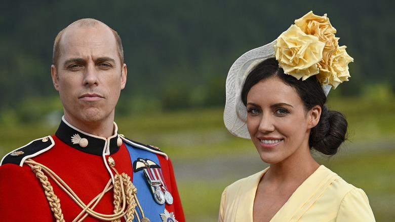 ハリー&メガンのウィリアム王子役のジョーダン・ホエーランとケイト・ミドルトン役のローラ・ミッチェル:生涯で宮殿を脱出